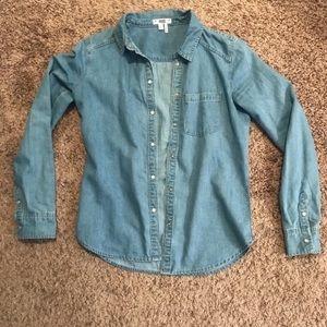Paige Button Down Jean Shirts (XS)